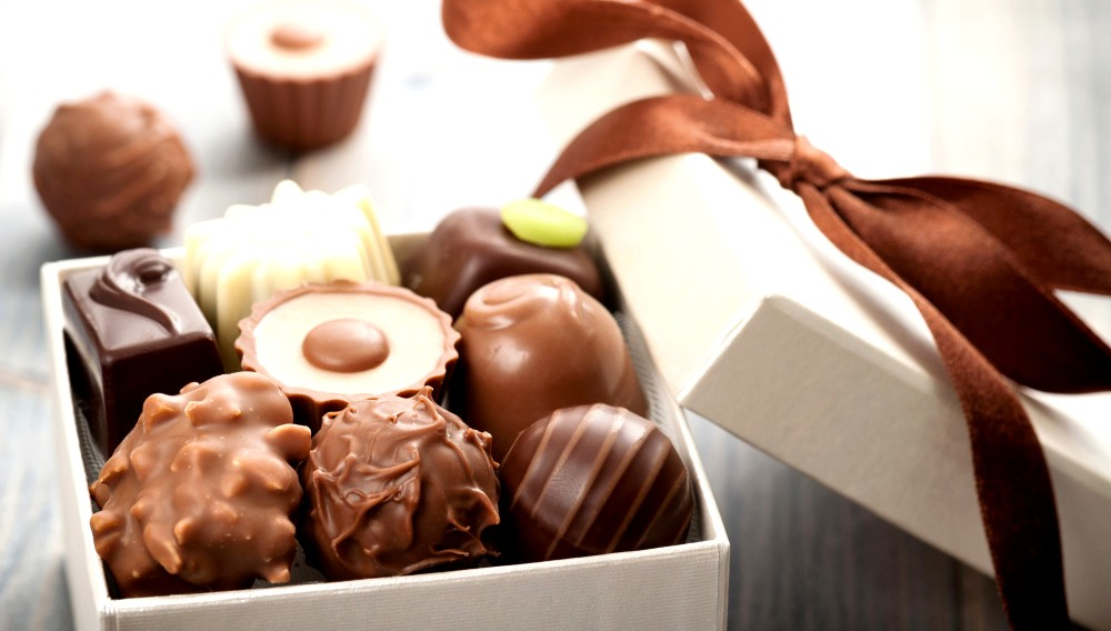 коробка с шоколадом - Шоколадные конфеты