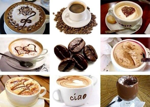 напитки - Виды кофе - разнообразие напитков...
