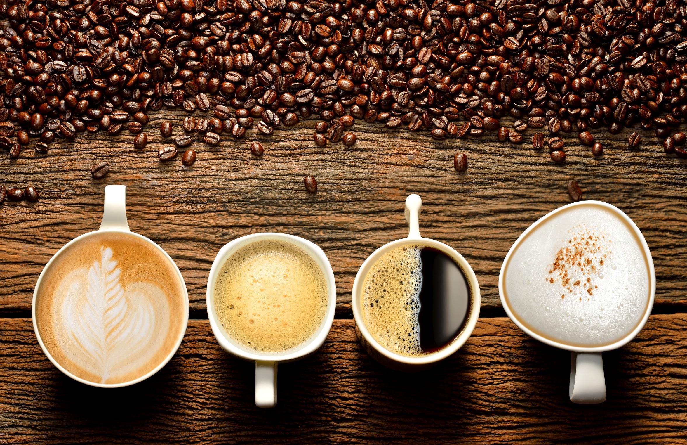 чашки - Виды кофе - разнообразие напитков...