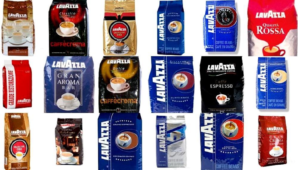 Lavazza виды кофе