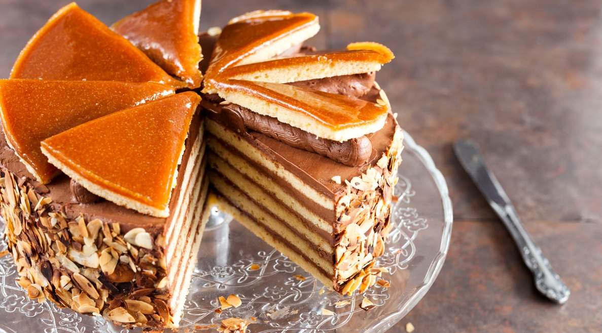 торт добош1 - Торт Добош - Императорский вкус! Как его приготовить?