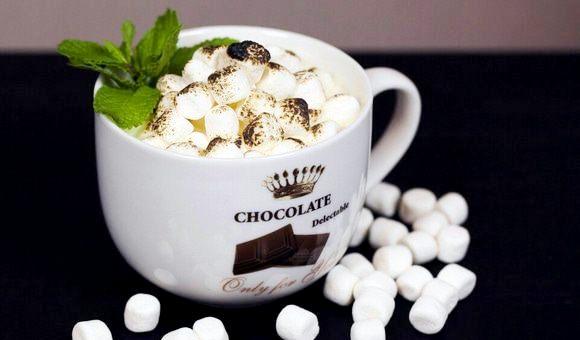 шоколад с мятой - Два рецепта горячего шоколада - с кокосовым молоком и с мятой!
