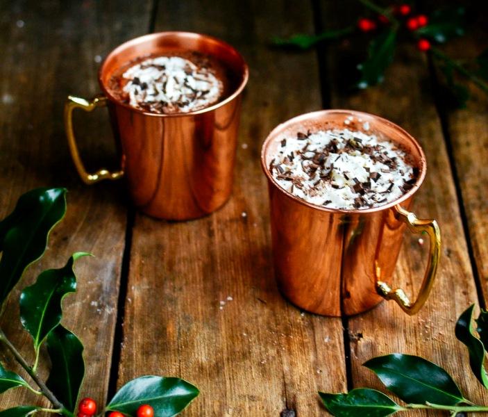 рождественский горячий шоколад - Горячий шоколад с перцем чили для теплой зимы...