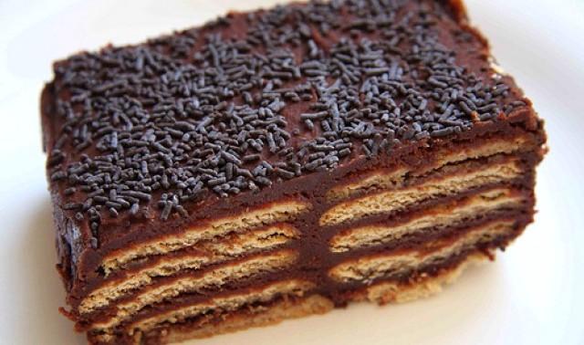"""без выпечки из печенья - Торт без выпечки из печенья - """"Кофе с шоколадом""""!"""