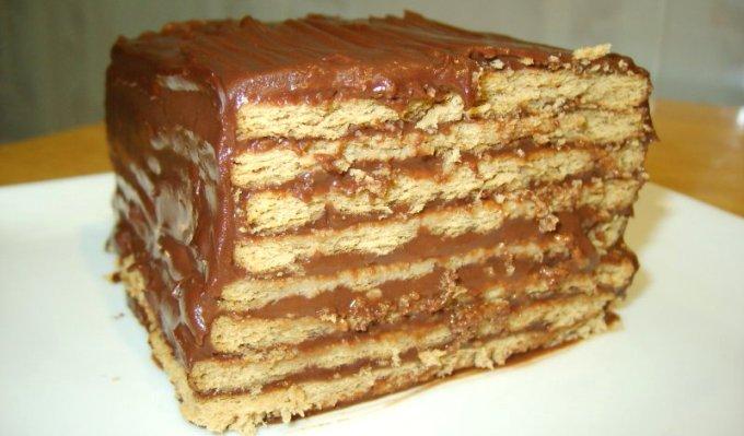 """без выпечки - Торт без выпечки из печенья - """"Кофе с шоколадом""""!"""