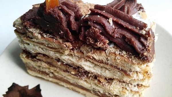 """из печенья кофе и шоколад - Торт без выпечки из печенья - """"Кофе с шоколадом""""!"""