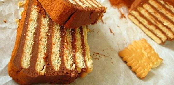 торт из печенья к кофе без выпечки