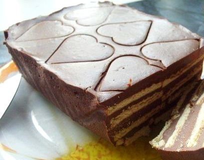"""торт кофе с шоколадом - Торт без выпечки из печенья - """"Кофе с шоколадом""""!"""