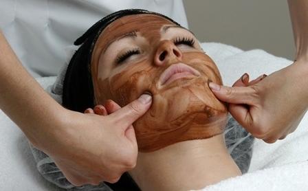 шоколадный массаж лица
