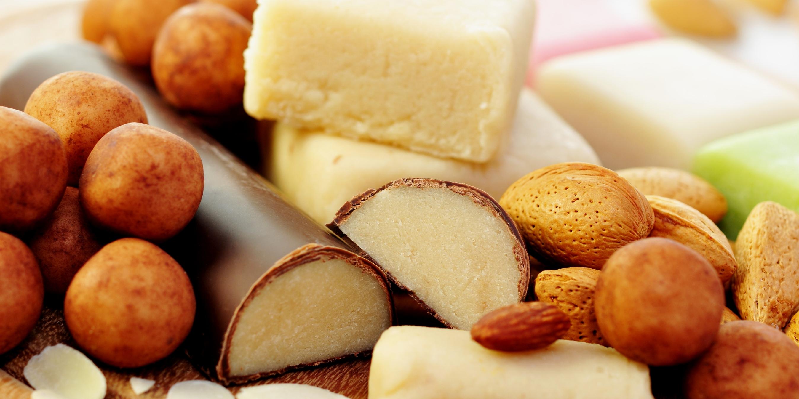 в шоколаде11 - Постные марципановые конфеты в шоколаде