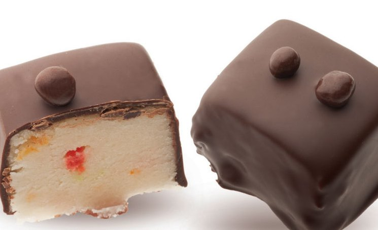 приготовление марципановых конфет в шоколаде - Постные марципановые конфеты в шоколаде