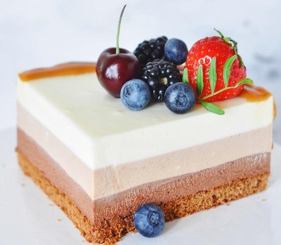 торт три шоколада кусочек - Торт три шоколада - пошаговый рецепт!