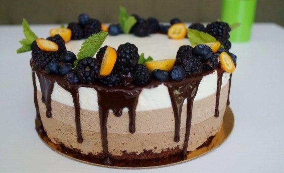 торт три шоколада - Торт три шоколада - пошаговый рецепт!