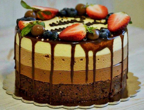 торт 3 шоколада рецепт - Торт три шоколада - пошаговый рецепт!