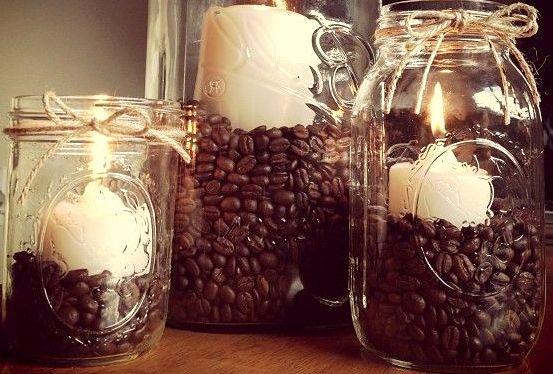 свеча - Как сделать кофейный ароматизатор для дома?