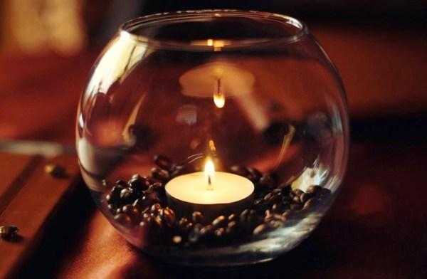 свеча декор - Как сделать кофейный ароматизатор для дома?