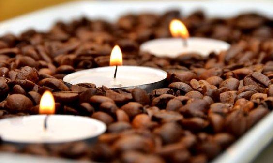 свечи в кофейных зернах - Как сделать кофейный ароматизатор для дома?