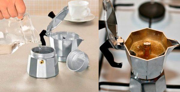 как заварить кофе в гейзерной кофеварке - Гейзерные кофеварки