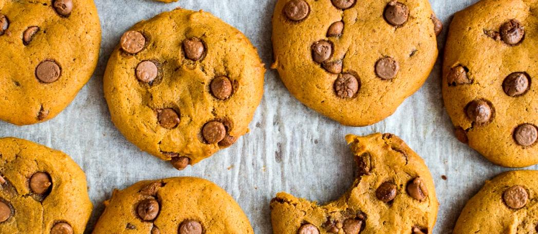 печенье с шоколадной крошкой - Тыквенное печенье с шоколадной крошкой - веганский рецепт!