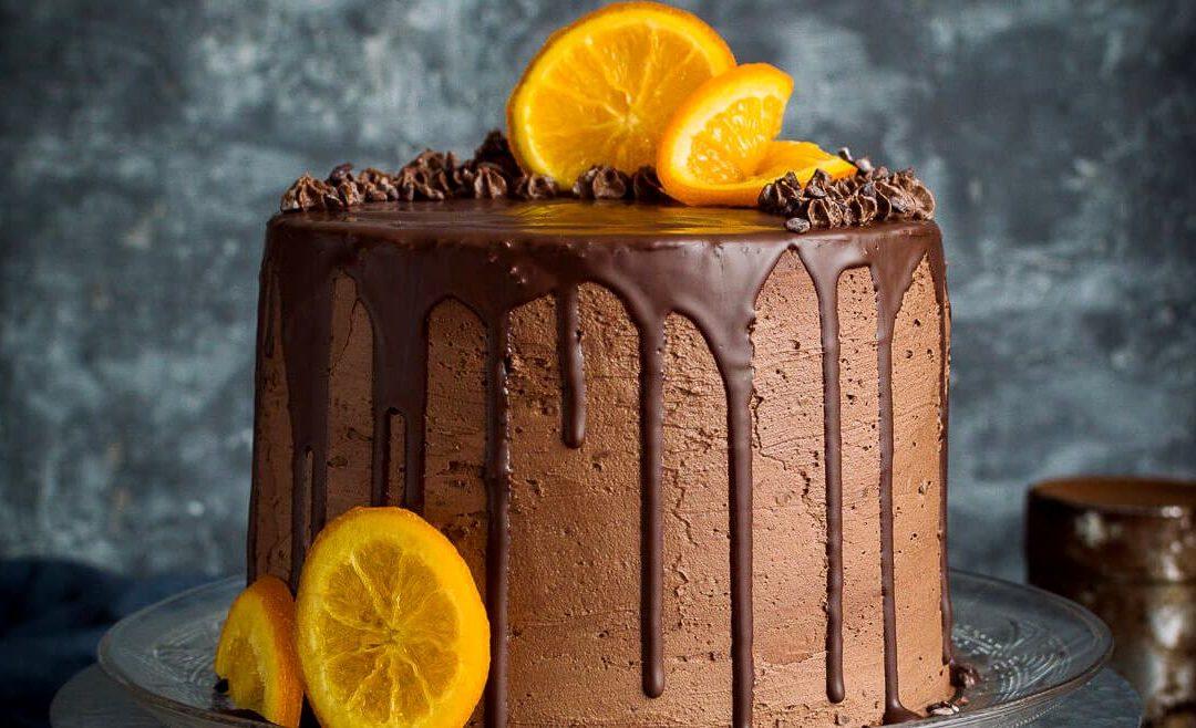 миндальный торт с шоколадным маслом 1080x658 - Апельсиново - миндальный торт с шоколадным кремом (vegan)