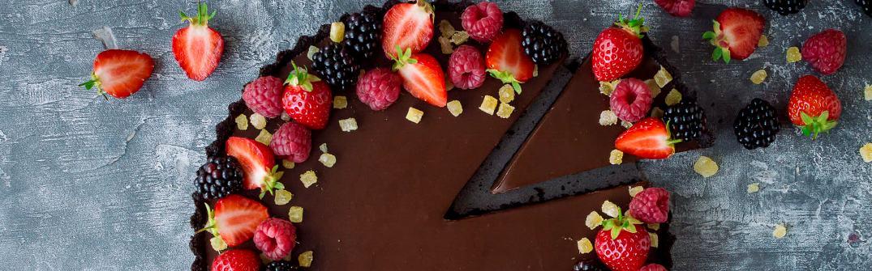 Шоколадный тарт с имбирным вареньем без выпекания - Шоколадный тарт с имбирным вареньем без выпекания