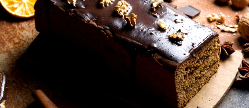 кекс с апельсином и орехами - Шоколадный кекс с апельсином и орехами - пошаговый рецепт!