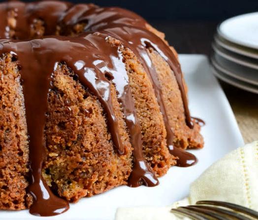 кекс - Шоколадный кекс с бананами