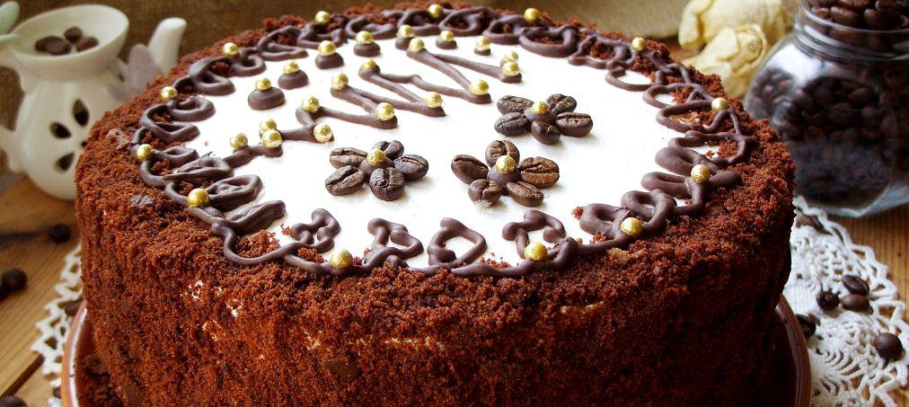 торт - Новогодний кофейный торт – праздничное настроение!